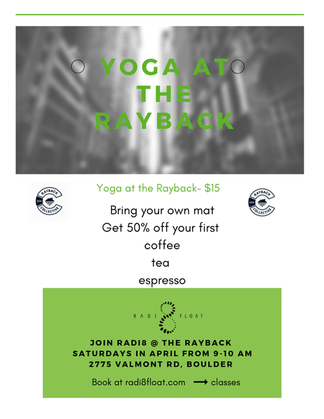 Yoga at the Rayback Collective this Saturday!