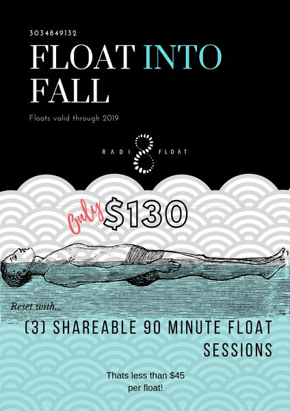 Float Into Fall at Radi8 Float Studio
